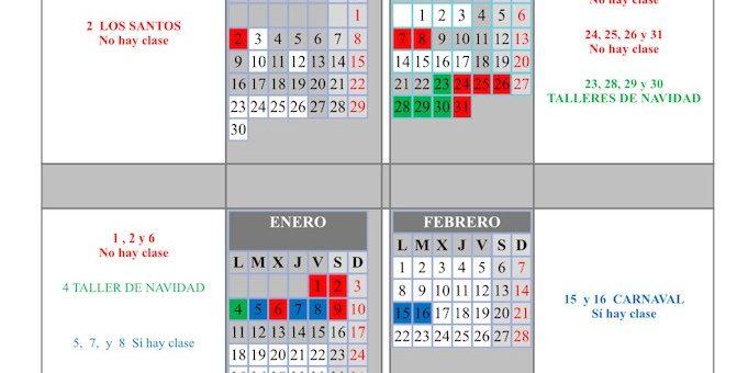 CALENDARIO ESCOLAR CURSO 2020 – 2021